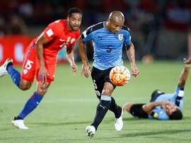 El futbolista uruguayo militó en River cinco temporadas. EFE