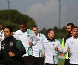 Castaignos, a la izquierda, no ha funcionado en el Sporting de Lisboa. EFE