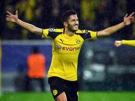 Sahin celebra con rabia su gol al Legia. AFP