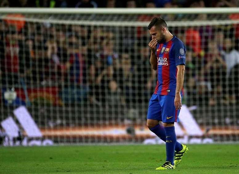 Jordi Alba seguirá en el Barça la próxima temporada. EFE