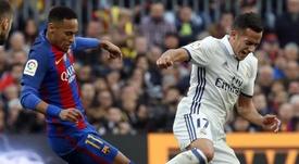 Lucas Vázquez valoró la posibilidad de que el brasileño llegue al Madrid. EFE