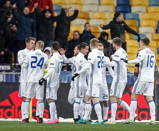 El Dinamo de Kiev ha sellado su pase a la siguiente ronda. EFE/Archivo