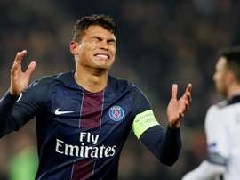 Thiago Silva reacts during the 2-2 draw with Ludogorets. EFE