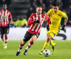 El PSV consiguió la victoria en los últimos minutos. EFE