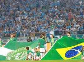 Chapecoense jugó el partido con jugadores juveniles. EFE/Archivo