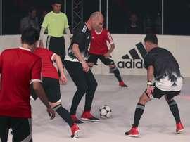 Zinedine Zidane lors d'un acte publicitaire. EFE
