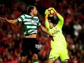 Bas Dost ha marcado los cuatro del Sporting ante el Tondela. EFE/EPA/Archivo