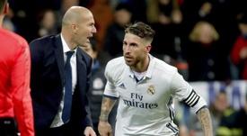 Ramos next to Zidane. Goal