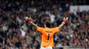 Casillas made his Real Madrid first team debut exactly 20 years ago. EFE/Archivo