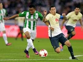 El lateral 'verdolaga' analizó el partido ante Jaguares. EFE