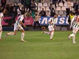 El Córdoba no pudo imponerse al UCAM en El Arcángel. EFE