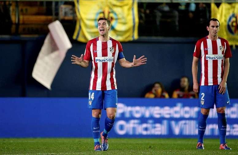 Pin Capitão do Atlético de Madrid nunca representou  La Roja . EFE 94780525d7e58