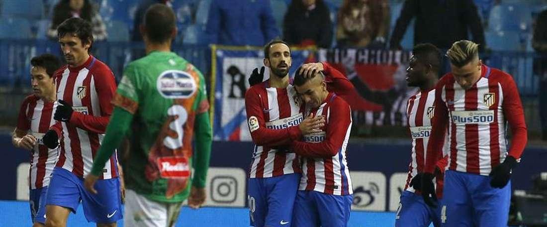 El Atleti ganó 4-1 al Guijuelo. EFE
