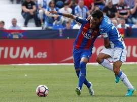 Horas después de dejar el Leganés, Sastre se comprometió con el Huesca. EFE