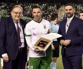 Marchena fue homenajeado antes del 'Champions for Life'. EFE