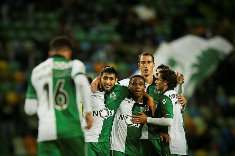 El Sporting remonta ante el Moreirense y se mantiene tercero. EFE/Archivo