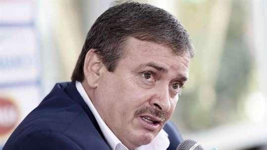 El director técnico de la selección de fútbol de Costa Rica, Óscar Ramírez. EFE/Archivo