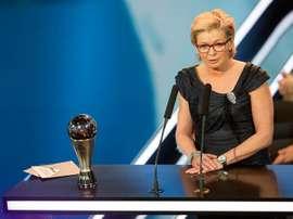 Silvia Neid: Melhor Treinadora no 'The Best' 2016 da FIFA. EFE