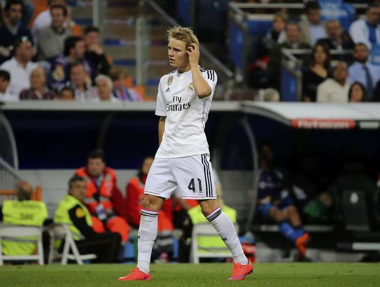 Martin Odegaard thinks that Real Madrid believes in him. EFE/Archivo