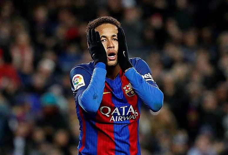 Le comportement de Neymar n'a pas été apprécié. EFE