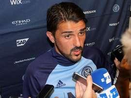 En la imagen, el delantero español David Villa. EFE/Archivo