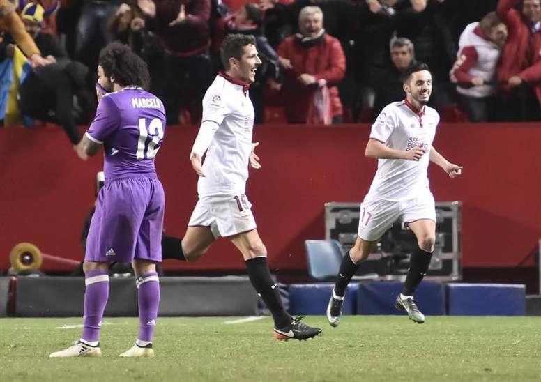 El Sevilla ya le aguó la fiesta a otro Madrid enrachado. EFE