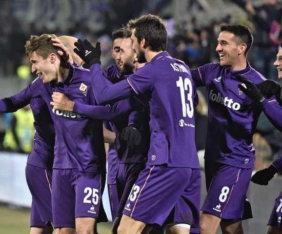La Fiorentina est neuvième en Serie A, avec 22 points. EFE/EPA