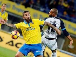 Las Palmas disputará mañana un amistoso ante el Hammarby IF de Suecia. EFE/Archivo