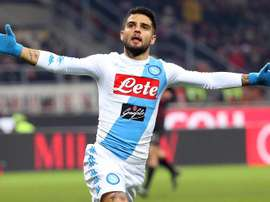 Insigne brace earns Napoli a win against Empoli. EFE/EPA/MATTEO BAZZI