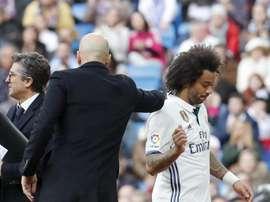As lesões de Marcelo são uma dor de cabeça para Zidane. EFE