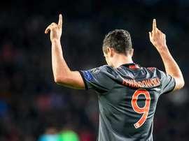 Lewandowski marcou. AFP