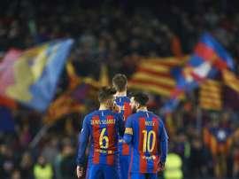 Denis Suárez a fait l'éloge de Messi. EFE