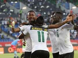 Ghana ya está en semifinales de la Copa África. AFP