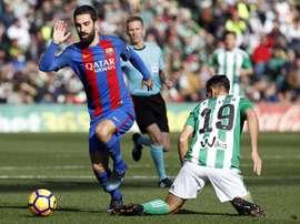 Arda Turan se despediu do Barça. EFE