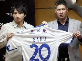 Gaku Shibasaki es uno de los jugadores que se quedan en Tenerife. EFE/Archivo