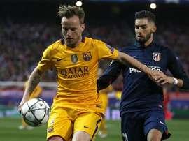 O nome de Rakitic não sai da agenda do Atlético. EFE