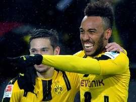 Triunfo do Dortmundo só surgiu nos últimos minutos da partida. EFE/EPA