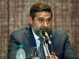 Angelici denunció la pelea entre ambos jugadores 'xeneizes'. EFE