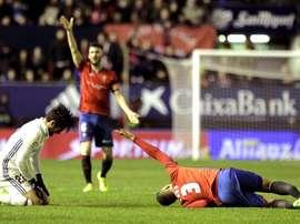 Osasuna não pode aguentar um bom resultado diante do Real Madrid. EFE
