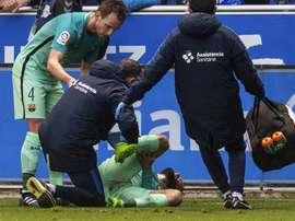 A lesão de Aleix Vidal obriga o Barça a ir ao mercado de verão. EFE
