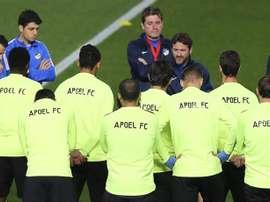 El APOEL se enfrenta al Real Madrid en el Santiago Bernabéu. EFE/Archivo