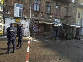 La policía polaca consiguió abortar una pelea multitudinaria entre varias aficiones. EFE