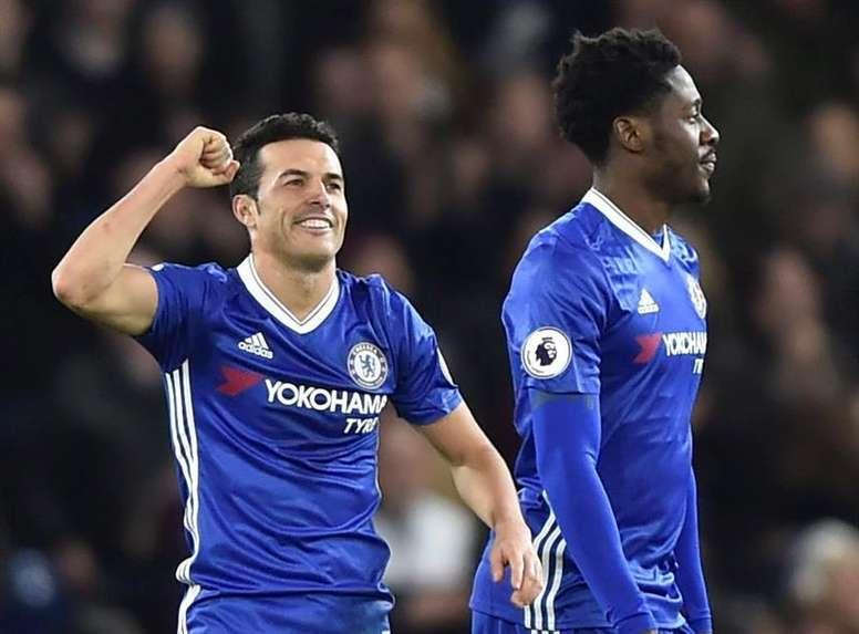 Pedro celebrating a goal. EFE