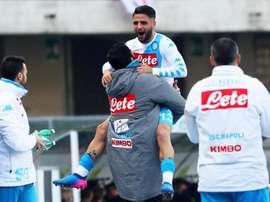 Insigne volvió a marcar en la Serie A. EFE