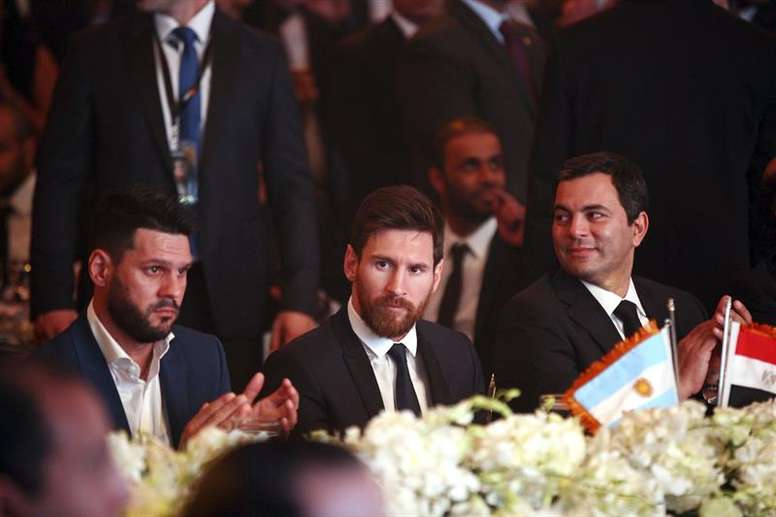 Messi photographed during the event. EFE