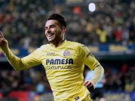 Nicola Sansone fête un but sous le maillot de Villarreal. EFE