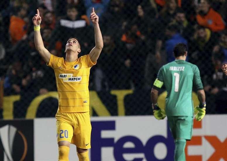 El Apollon dejó al APOEL de Sotiriou sin Copa. EFE
