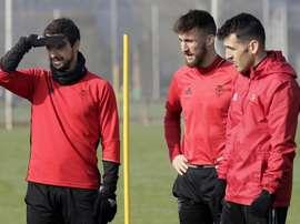 Fuentes no estará ante el Espanyol. EFE/Archivo