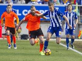 EL Alavés consiguió la remontada ante el Valencia. EFE