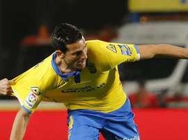 Las Palmas ya prepara el partido ante el Madrid. EFE